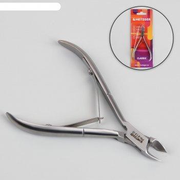 Кусачки маникюрные, двойная пружина, 10,5 см, длина лезвия - 9 мм, цвет ма