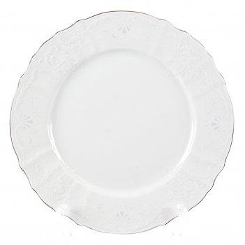 Набор тарелок bernadotte платиновый узор 27 см(6 шт)
