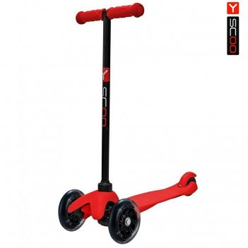 Y-scoo rt mini shine a5 red с 2-мя светящимися колесами