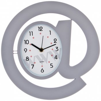 Часы настенные кварцевые собачка диаметр=30 см. цвет: серый циферблат 17*1