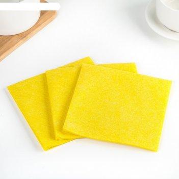 Набор салфеток для уборки 30x30 см, вискоза, 3 шт, цвет микс