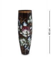 Vz-519 ваза стеклянная жостово h-400 (бочка)