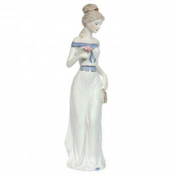 Фигурка декоративная девушка с сумочкой, l7,5 w7,5 h29,5 см