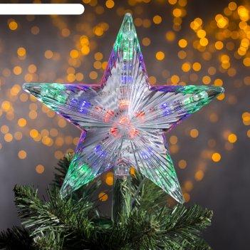 Фигура звезда белая ёлочная 22х22 см, пластик, 30 led, 240v мульти