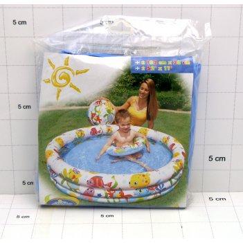 С59469, детский бассейн подводный мир, intex