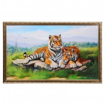 Картина пара тигров 60х100см