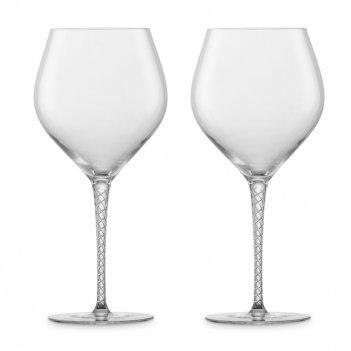 Набор бокалов для красного вина  burgundy, ручная работа, объем 646 мл, 2