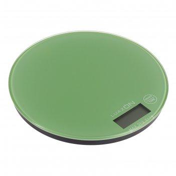 Весы электронные кухонные luazon lvk-701 до 5 кг, круглые, стекло, блендо-