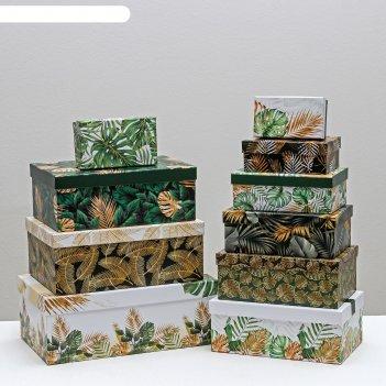 Набор подарочных коробок 10 в 1 «тропический», 12 x 7 x 4 - 32.5 x 20 x 12