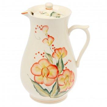 Кувшин для сока рисованный орхидея 1,7л