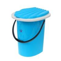 Ведро-туалет 20 л, цвет светло-синий