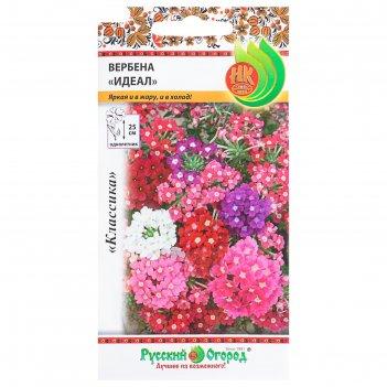 Семена цветов вербена идеал, серия русский огород, смесь, о, 0,2 г