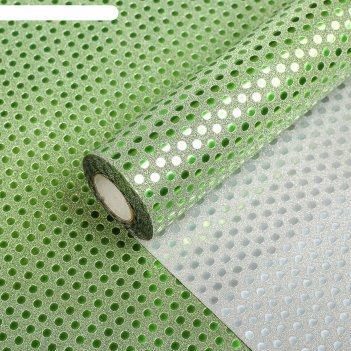 Плёнка с блестками 0,5 х 10 м цвет зелёный