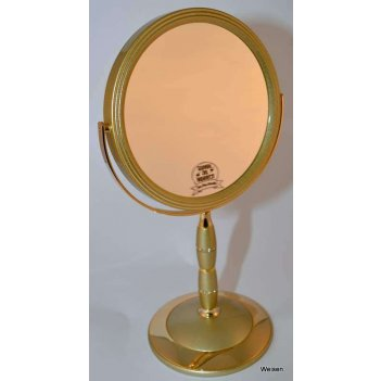 Зеркало b7 8088 g5/g gold наст. кругл. 2-стор. 5-кр.ув.18 см