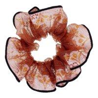 Резинка для волос орбита чёрный кант, кружевные цветы, микс