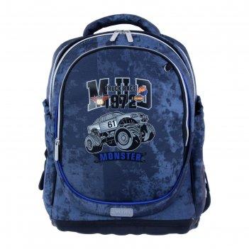 Рюкзак школьный эргономичная спинка devente excel, 39 х 29 х 16 см, monste