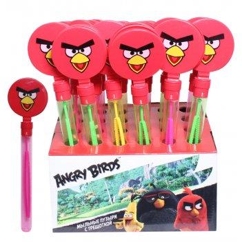 1toy angry birds, мыл.пуз., колба с трещоткой, 60 мл, д/б