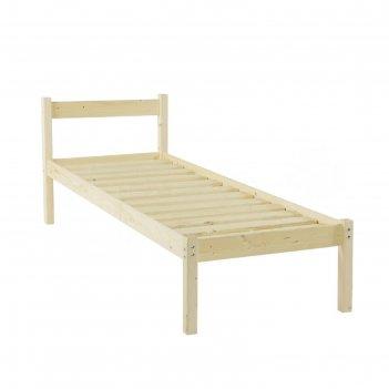 Односпальная кровать «т1», 80 x 160 см, цвет сосна