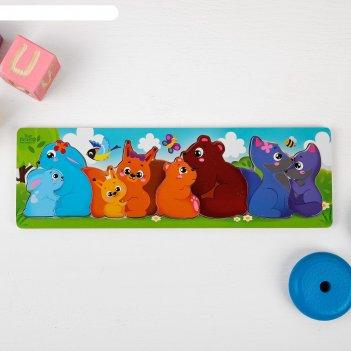 Мозаика головоломка животные и дети
