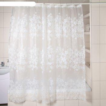 Штора для ванной ажур