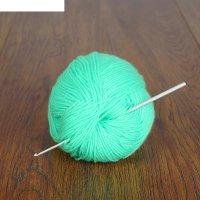 Крючок для вязания металлический, cht, с тефлоновым покрытием, d=2мм, 15см