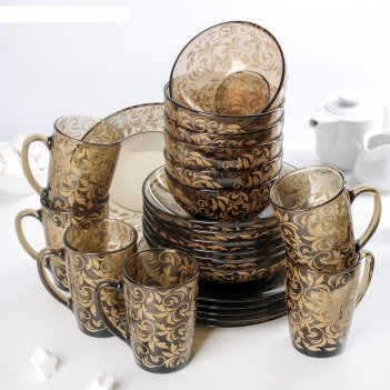 Набор столовый эмилия ca del vetro, 24 предмета