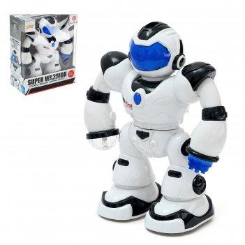 Робот диско, световые и звуковые эффекты, работает от батареек, цвета микс