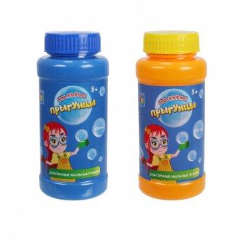 1toy прыгунцы, бутылка с раствором для эластичных мыльных пузырей, 100мл.