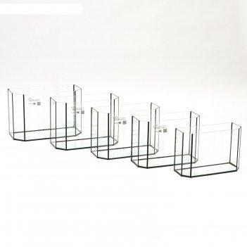 Комплект аквариумов панорамные матрешка без крышек, 15, 20, 25 ,30 ,40 л