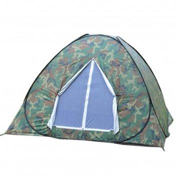 Палатка-автомат туристическая wildman™ «милитари»,4-х местная, однослойная