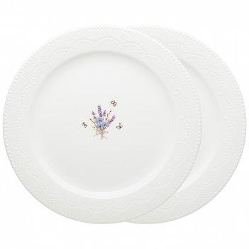 Набор тарелок обеденных lefard прованс ажур 2 шт. 26 см (кор=12наб.)