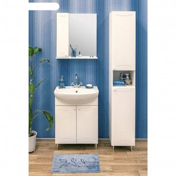 Набор мебели карина 45 левый: тумба с раковиной + шкаф зеркало