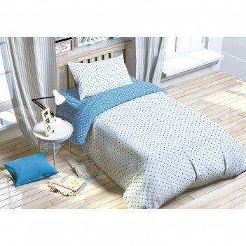 Постельное бельё этелька 1.5 сп. голубая мечта 143х215 см, 150х214 см, 50х