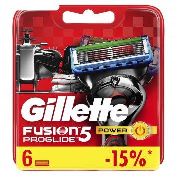 Сменные кассеты для бритья gillette fusion5 proglide power, 6 шт.