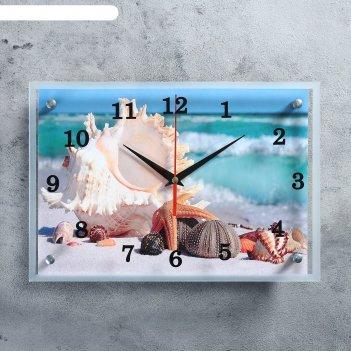 Часы настенные, серия: море, обитатели морского дна, 25х35  см, микс