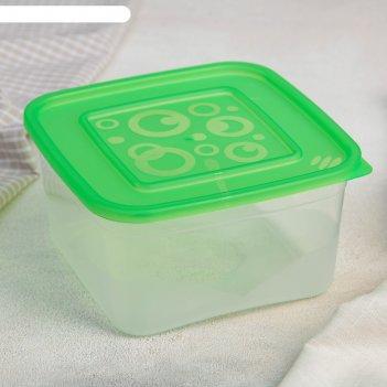 Контейнер пищевой 1 л с крышкой для свч, прямоугольный, цвет микс