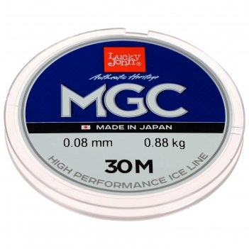 Леска моно. зим. lucky john mgc 30 м, 0,08 мм