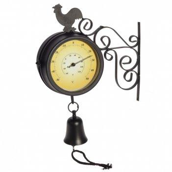 Часы с термометром двусторонние настенные декоративные, l27 w10 h49 см, (1