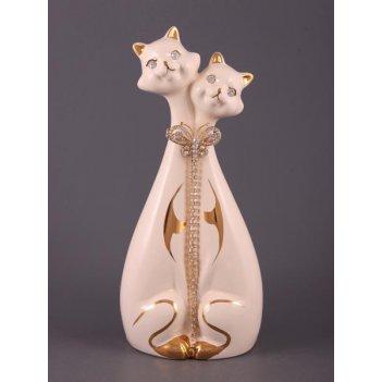 Фигурка пара кошек  с цепочкой высота=29 см