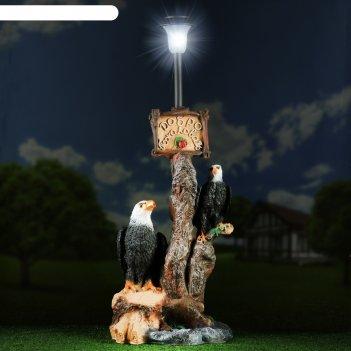 Садовый фонарь дерево с фонарем: два орла 76х43см