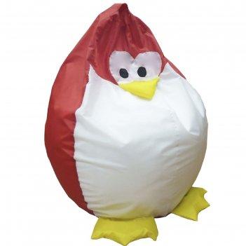 Кресло-мешок пингвин, ткань нейлон, цвет красный