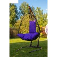 Подвесное кресло на стойке корфу, черное/фиолетовая