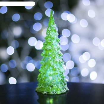Игрушка световая снежная елочка h=17 см