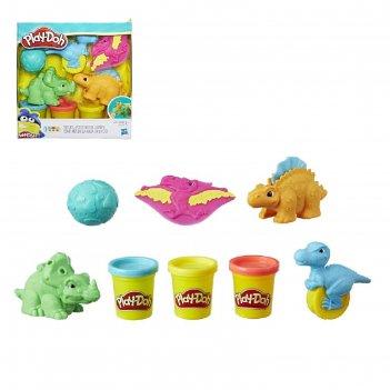 Игровой набор для лепки play - doh малыши-динозаврики