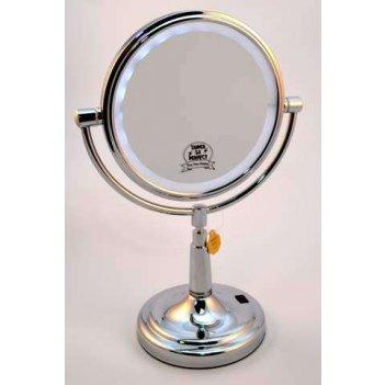 Зеркало с подстветкой lm 87 нерж.сталь наст. кругл. 2-стор. 5-кр.ув.