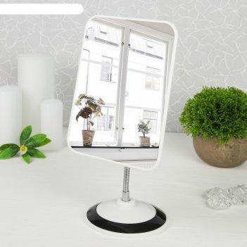 Зеркало на гибкой ножке, зеркальная поверхность — 14,5 x 19,5 см, цвет мик