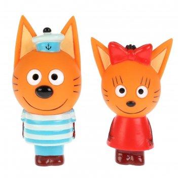 Игрушка  для ванны три кота. карамелька и коржик st-ft1809-08 (100)