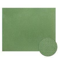 Канва 30х40 см  gamma   aida №14 цвет зелёный, хлопок  k04