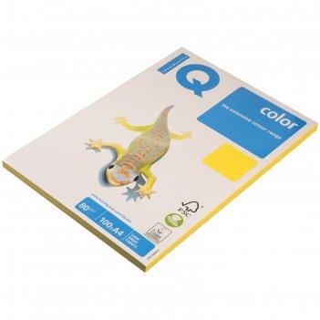 Бумага цветная iq color intensive (а4,80г,cy39-канареечно-желтый) пачка 10