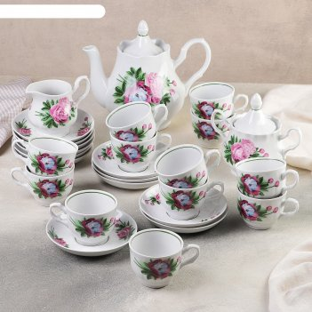 Сервиз чайный «пион», 27 предметов